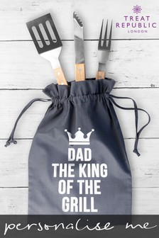 Personalised BBQ Tools Set by Treat Republic