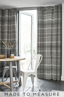 Cosy Check Made To Measure Curtains