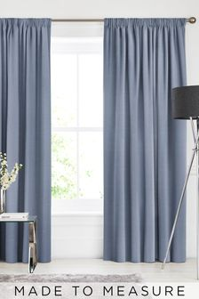 Soho Danube Blue Made To Measure Curtains