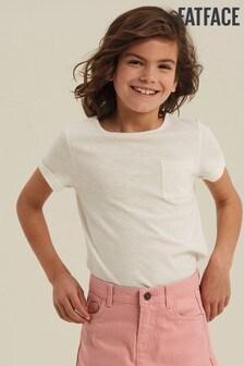 FatFace Natural Short Sleeve Plain T-Shirt