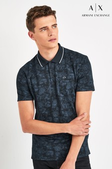 Armani Exchange Navy Pattern Polo