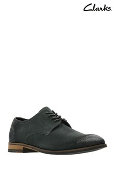 Clarks Grey Flow Plain Shoe