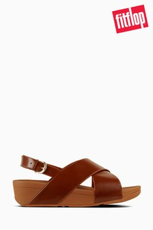 FitFlop™ Caramel Leather Lulu Cross Back Strap Sandal