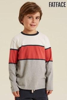 FatFace Natural Placement Stripe T-Shirt