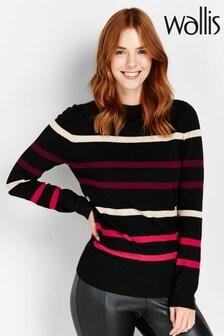 Wallis Black Striped Jumper