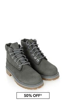 Boys Dark Grey Premium WP Boots