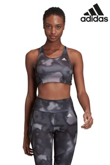 adidas D2M All Over Print Sports Bra