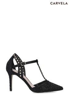 Carvela Black Kankan Jewel Shoes