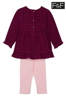 F&F Burgundy Tunic And Leggings