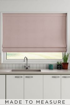Made To Measure Blush Cotton Roman Blind