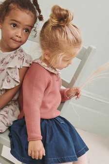 Girls Next Purple Unicorn Sweater Jumper Top age 3-16 Years
