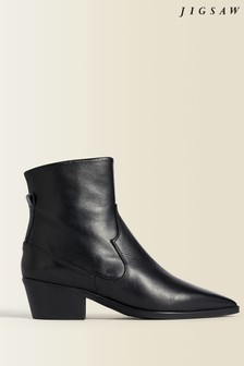 Jigsaw Black Austin Cuban Leather Boots