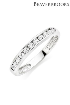 Beaverbrooks Silver Cubic Zirconia Stacking Ring
