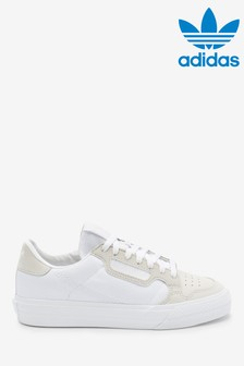 adidas Originals White Continental 80 Vulc Youth Trainers