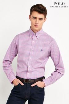Polo Ralph Lauren Rose Check Custom Fit Poplin Shirt