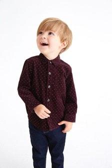 Long Sleeve Dotty Cord Shirt (3mths-7yrs)