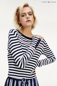 Tommy Hilfiger Blue Icon Kamilla Striped Sweater