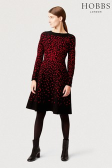 Hobbs Black Jodie Knitted Dress