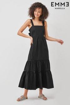 Emme by Marella Navy Cotton Atropos Dress