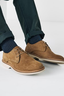 Nubuck Leather Derby Shoes