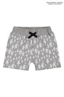 Turtledove London Organic Cotton Starfish Grey Jaquard Shorts