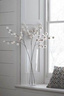 Set of 3 Artificial Pom Pom Stems