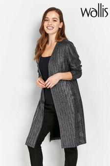 Wallis Silver Glitter Jacket
