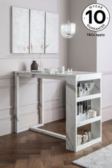 Marble Storage Bar Table