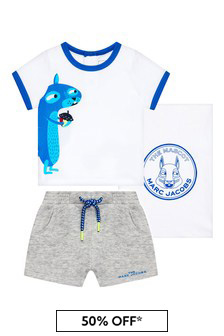 Marc Jacobs Baby Boys White Cotton T-Shirt And Shorts