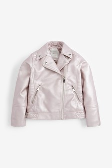Metallic PU Biker Jacket (3-16yrs)