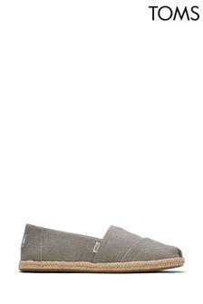 TOMS Drizzle Grey Slubby Woven Alpargata Rope Shoes