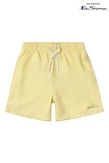 Ben Sherman Yellow Target Swim Shorts