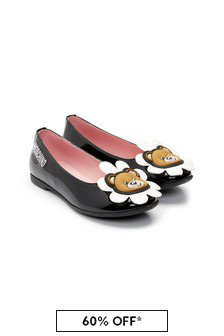 Moschino Kids Girls Black Leather Shoes