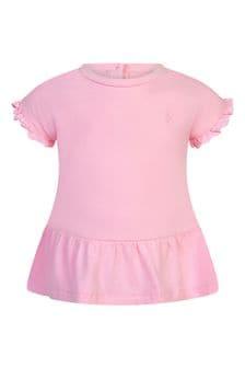 Ralph Lauren Kids Baby Girls Pink Cotton T-Shirt