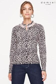 Damsel In A Dress Cream Armelle Animal Knit Cardigan