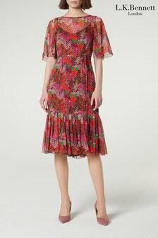L.K.Bennett Purple Boe Dress
