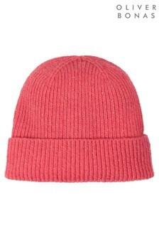 Oliver Bonas Fisherman Speckled Pink Beanie Hat