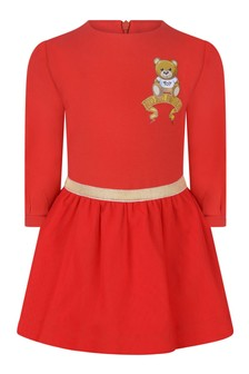 Baby Girls Red Cotton & Tulle Dress