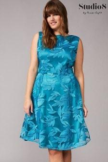 Studio 8 Blue Lurina Embroidered Dress