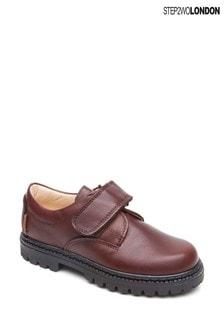 Step2wo Brown Sir Durable Hook And Loop Shoes