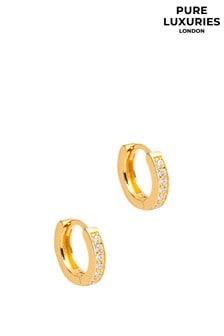 PureLuxuries London Alison Gold Plated Hooped Earrings