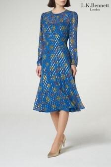 L.K.Bennett Blue Ines Dress