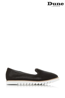 Dune London Black Galleon Leather Printed Sport Loafers