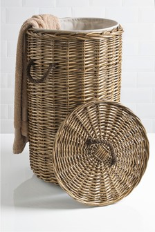 Natural Willow Laundry Bin