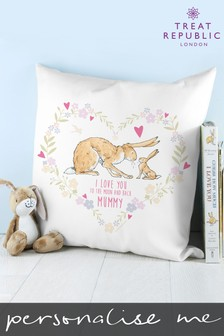 Personalised Guess How Much I Love You Wreath Cushion by Treat Republic