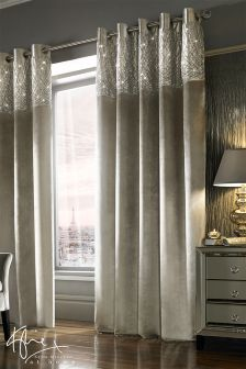 Kylie Sequin Header Esta Eyelet Curtains
