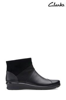 Clarks Black Leather Hope Mist Boots