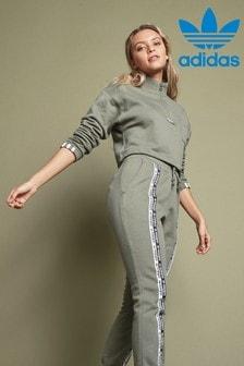 adidas Originals R.Y.V Cropped 1/4 Zip Top