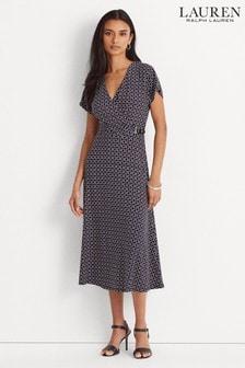 Lauren Ralph Lauren® Navy Geo Print Stretch Danalie Dress