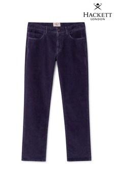 Hackett Blue Slim Fit HKT Corduroy 5 Pocket Trousers
